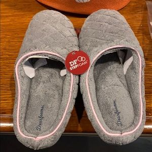 Gray slippers size M 7-8 new with tags